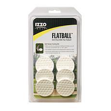 IZZO Golf Flatball Golf Swing Training Aid - 6 Pack