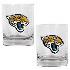 Jacksonville Jaguars 2pc Rocks Glass Set