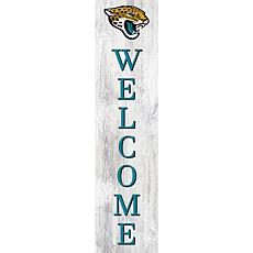 """Jacksonville Jaguars 48"""" Welcome Leaner"""