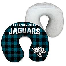 Jacksonville Jaguars Buffalo Check with Sherpa Memory Foam Travel P...