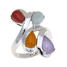 Jade of Yesteryear Colors of Jade Pear Stone Ring