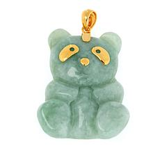 Jade of Yesteryear Gold-Plated Sterling Silver Jade Panda Pendant