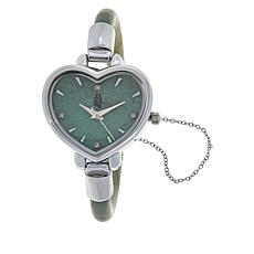 Jade of Yesteryear Jade Heart Bangle Watch with Magnetic Clasp