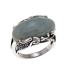 Jade of Yesteryear Light Green Jade Dragon Ring