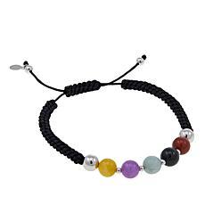 Jade of Yesteryear Multicolor Jade Bead Macrame Bracelet