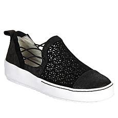 Jambu Originals Erin Perforated Suede Slip-On Sneaker
