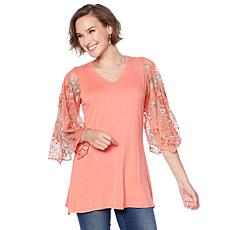 Jamie Gries Embellished Bell Sleeve Sweater