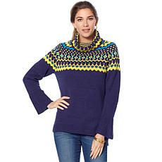 Jamie Gries Fair Isle Turtleneck Sweater