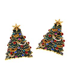 JAY Jay Strongwater Enamel Tree Earrings