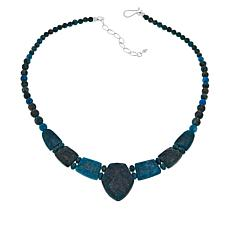 "Jay King 18"" Sterling Silver Apatite Beaded Drop Necklace"