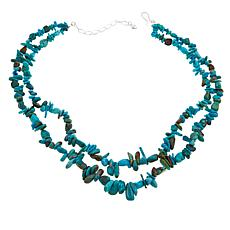 "Jay King 2-Strand Chip and Nugget Anhui Turquoise  18"" Necklace"