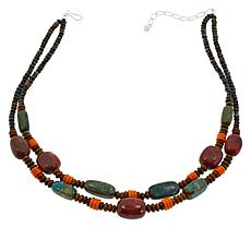 Jay King 2-Strand Multi-Color Turquoise and Coral Bead Necklace