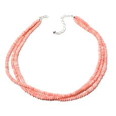 "Jay King 3-Strand Pink Coral Bead 18"" Necklace"