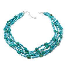 """Jay King 4-Row Turquoise Bead 18-1/4"""" Necklace"""