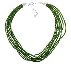 Jay King 8-Strand Green Chrome Diopside Bead Necklace