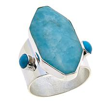 Jay King Amazonite and Turquoise Sterling Silver Ring