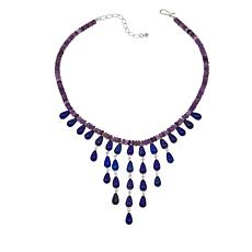 "Jay King Amethyst and Lapis 18"" Bib Necklace"