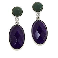 Jay King Amethyst and New Red Skin Turquoise Drop Earrings