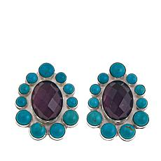 Jay King Amethyst and Turquoise Earrings
