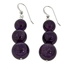 Jay King Amethyst Bead Drop Sterling Silver Earrings
