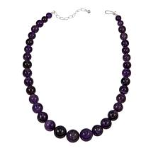 "Jay King Amethyst Graduated Bead 20"" Necklace"