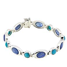 Jay King Andean Blue Turquoise and Kyanite Sterling Silver Bracelet