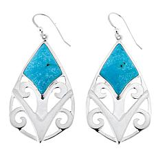 Jay King Andean Blue Turquoise Drop Sterling Silver Earrings