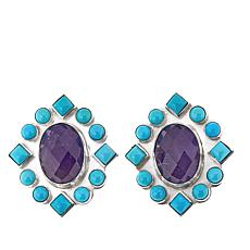 Jay King Angel Peak Turquoise and Amethyst Earrings
