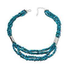 "Jay King Anhui Turquoise 4-Strand 20"" Necklace"