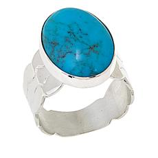 Jay King Azure Peak Turquoise Oval Cabochon Ring