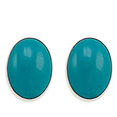 Jay King Azure Peak Turquoise Sterling Silver Oval Stud Earrings