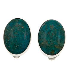 Jay King Azure Peaks Turquoise Oval Sterling Silver Clip-On Earrings
