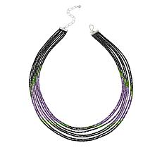 Jay King  Black Spinel and Multi-Gem Layered Necklace