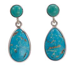 Jay King Blue Chilean Turquoise Sterling Silver Drop Earrings
