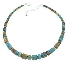 "Jay King Blue Ridge Turquoise Bead 18-1/4"" Sterling Silver Necklace"