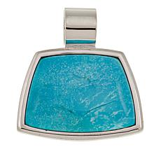 Jay King Blue Ridge Turquoise Sterling Silver Pendant