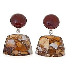 Jay King Brecciated Mookaite and Red Agate Earrings