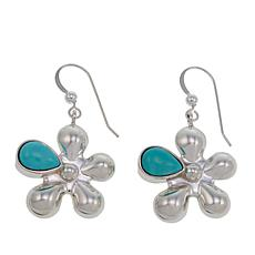 Jay King Campitos Turquoise Sterling Silver Floral Drop Earrings