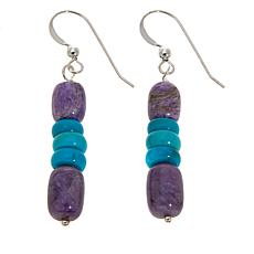 Jay King Charoite and Turquoise Bead Earrings