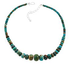 Jay King Compressed Blue Ridge Turquoise Bead Necklace