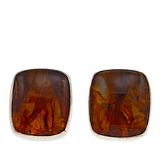 Jay King Cushion-Cut Amber Sterling Silver Stud Earrings