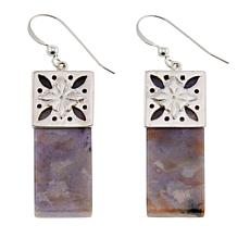 Jay King Dendritic Sage Chalcedony Drop Sterling Silver Earrings