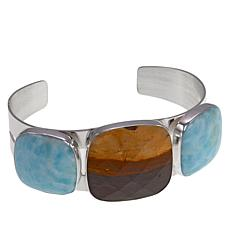 Jay King Desert Sunset and Blue Aragonite Cuff Bracelet