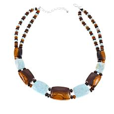 "Jay King Desert Sunset and Blue Aragonite Stone 18-1/4"" Necklace"