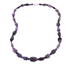 "Jay King Faceted Multicut Amethyst Bead Sterling Silver 36"" Necklace"