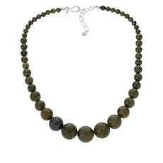 Jay King Forest Night Green Epidote Graduated Bead Necklace