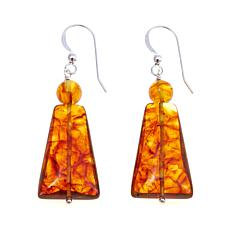 Jay King Freeform and Round Amber Drop Earrings