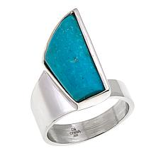 Jay King Freeform Angel Peak Turquoise Sterling Silver Ring