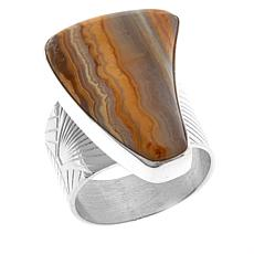 Jay King Freeform Java Lace Agate Sterling Silver Ring