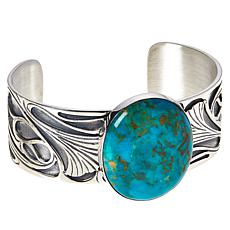 Jay King Gallery Collection Kingman Turquoise Oval Cuff Bracelet